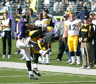 Hines Ward - Ward makes a catch against the Baltimore Ravens in 2006.
