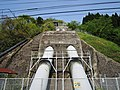 Hinobori hydroelectric power station penstock.jpg