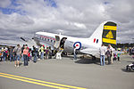 Historical Aircraft Restoration Society Douglas C-47 Dakota (VH-EAF) at the Canberra Airport open day (2).jpg