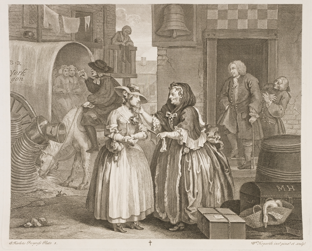 A Harlot's Progress, Plate 1
