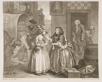 Elizabeth Needham - Elizabeth Needham (right foreground) as portrayed in William Hogarth's A Harlot's Progress