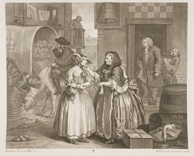 Hogarth 18th century print authentic historical costume