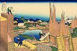 Hokusai, la scierie à Honjo