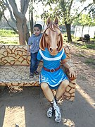 Horse mascot at Tilyar lake complex Inside Mini Zoo..jpg