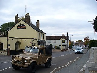 Horsell Human settlement in England