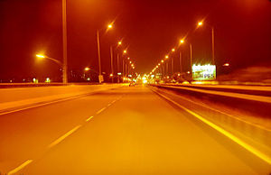 Hosur Road - Image: Hosur Road Elevated Expressway Night Vision