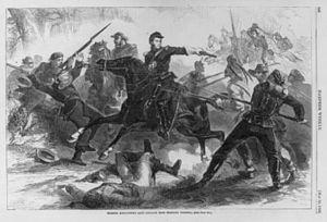 Hugh Judson Kilpatrick - Harper's Weekly rendering of Kilpatrick's raid