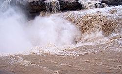 黃河嘅壺口瀑布,係中國第二大嘅瀑布