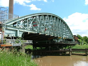VolkerRail - The swingbridge built by the Hull and Barnsley Railway to cross the River Hull.
