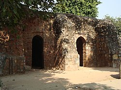 Humayun's Tomb - Wall of Arab Serai - View from inside.jpg