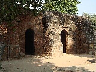 16th century caravanserai in Delhi, India