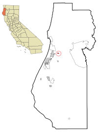 Humboldt County California Incorporated and Unincorporated areas Blue Lake Highlighted.svg