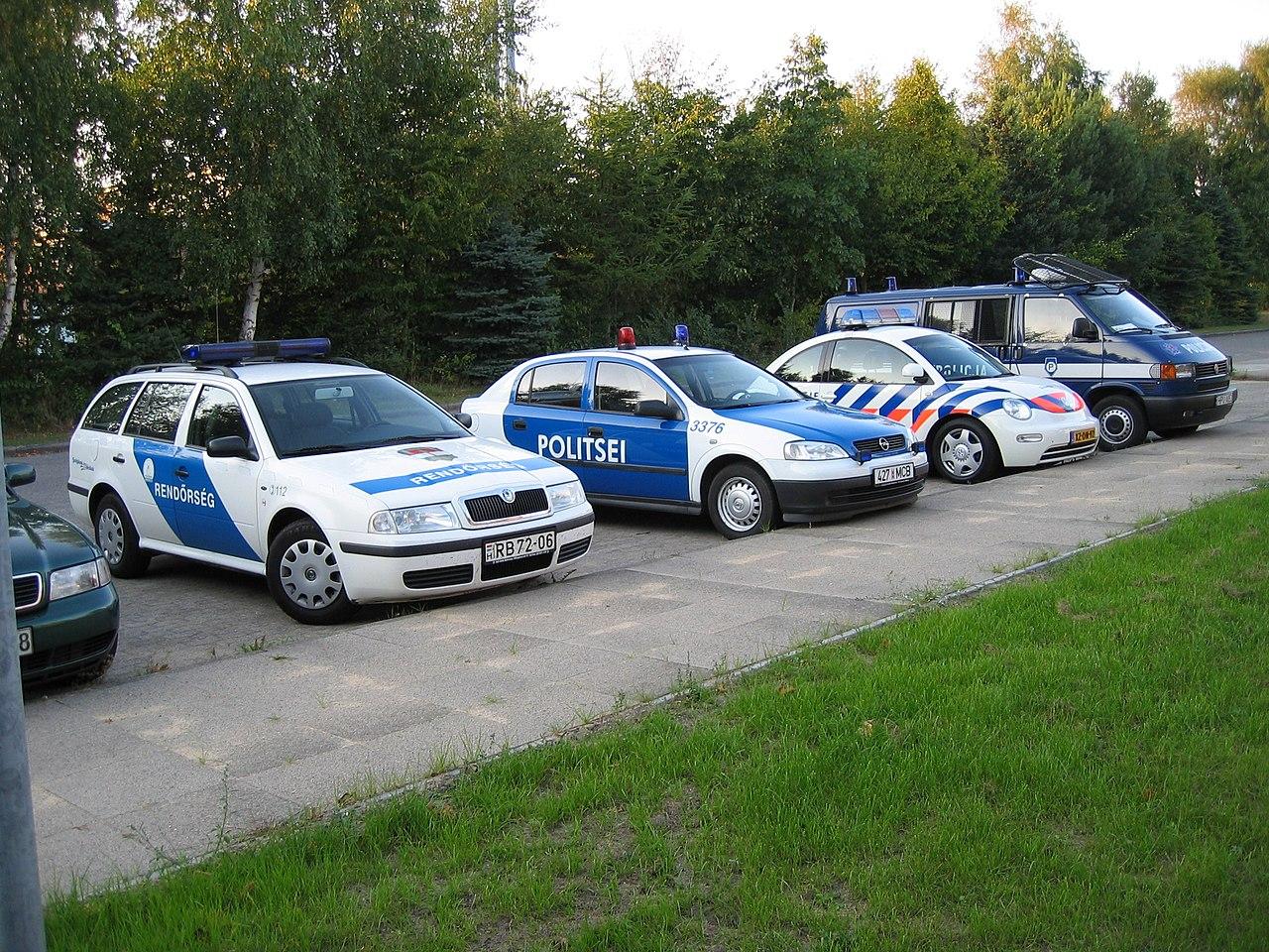 File:Hungaria, Estonia, Dutch and Polish police cars ...