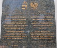 Hungarian aid to Poland plaque, Town Hall, 2016 Csepel.jpg