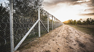 Hungarian border barrier