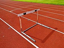 Hurdle on athletic track.jpg