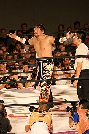 Yoshihiro Tajiri - Tajiri wrestling in HUSTLE.