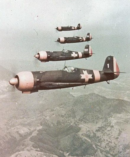 A formation of IAR-80 fighter aircraft IAR80.jpg