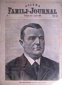 Nr. 1/1899 med gravering af lægen Ernst Westerlund på omslaget.