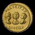 INC-1852-r Ауреус Септимий Север Юлия Домна Каракалла и Гета ок. 202 г. (реверс).png