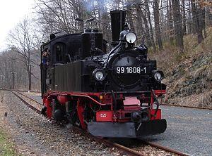 Saxon IV K - 99 608 on the Weißeritztalbahn (2006)