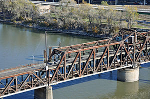 I Street Bridge - Image: I Street Bridge aerial close up 2011