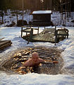 Ice swimming at summer cottage Finland.jpg