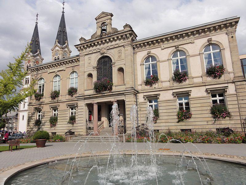 Alsace, Bas-Rhin, Illkirch-Graffenstaden, Hôtel de ville.