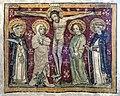 Im frühen 14. Jahrhundert schuf Rudolphus von Wimpfen die Fresken in der Marienkirche. Kreuzigung.jpg