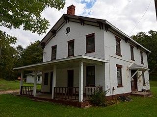 Henry N. Frentess Farmstead farm on U.S. 20 in Jo Daviess County, Illinois