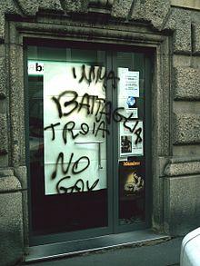 Insulto omofobo rivolto a Imma Battaglia, febbraio 2006