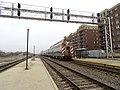 Inbound Metra train passing Halsted Street station, December 2018.JPG
