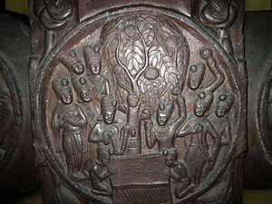 Vipassī Buddha - Vipassī and pāṭalī tree from the Bharhut Stupa at the Indian Museum, Kolkata.