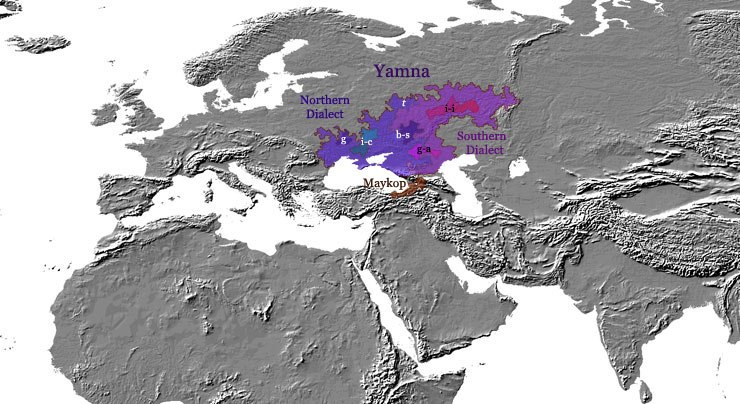 Indo-european language - yamna-culture - 3000 BC - map