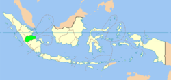 Location o Jambi in Indonesie