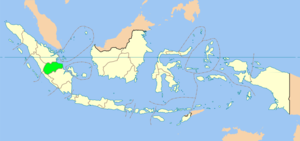 Map showing Jambi province in Indonesia