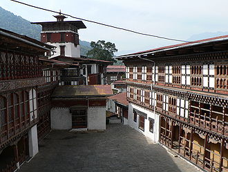 Penlop - Trongsa Dzong, interior buildings