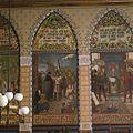 Interieur, eerste verdieping, achterzijde rechts (Statenzaal), muurschildering, 1368 Kampen's vloot vertrekt tot ondersteuning der Hanse tegen den koning van Denemarken - Zwolle - 20393814 - RCE.jpg