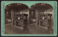 Interior of the McGraw-Fiske Mansion, Ithaca, N.Y. Ancient carved oak side-board in dining room. (W. H. Miller, architect), by Eagles, J. D., 1837-1907.png