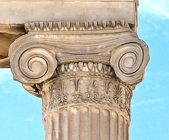 Ionic order - Ionic capital at the Erechtheum, Athens, 5th century BCE.
