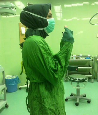 Surgical technologist - Image: Iranian surgical technologist with hijab 02
