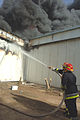 Iraqi, American firefighters battle blaze at weapons training si DVIDS16714.jpg