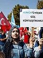 Iraqi Turkmen woman holding a placard.jpg
