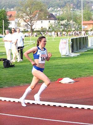 Irina Mikitenko - Irina Mikitenko winning the German 10,000 metres Championship in 2006