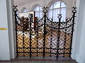 Iron gate at the gallery of the Grand Hall. Budapest Museum of Applied Arts.JPG