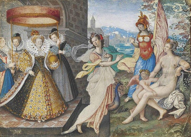 File:Isaac Oliver Elizabeth I and the Three Goddesses.jpg