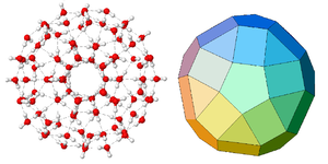 Van der Waals molecule - Calculated structure of a (H2O)100 icosahedral water cluster.