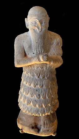 Ishqi-Mari, king of the Second Kingdom of Mari, circa 2300 BC. Ishqi-Mari (dark background).jpg