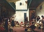 חתונה יהודית במקנס במרוקו (1839). הציור מוצג כיום במוזיאון הלובר בפריז