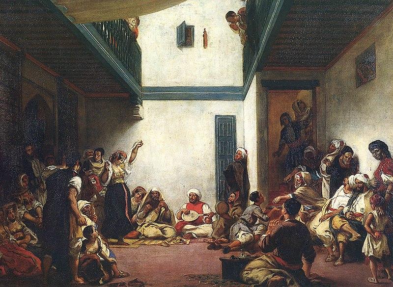Mariage juif au Maroc sur une toile de Delacroix dans le musée du Louvre à Paris.